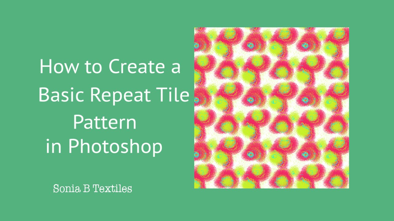 How to? Create a Basic Repeat Tile Pattern in Photoshop - YouTube