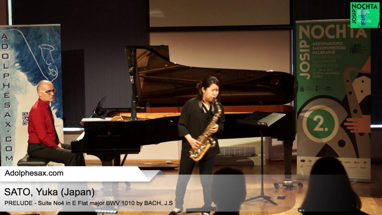 Johann Sebastian Bach – Suite No 4 in E  at major BWV 1010 – Pre?lude – SATO, Yuka (Japan)