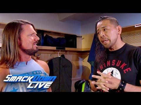 Shinsuke Nakamura asks AJ Styles for backup: SmackDown LIVE, March 27, 2018