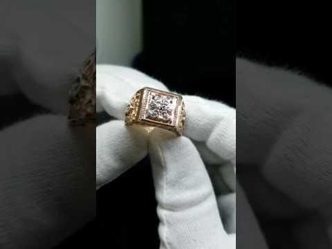 Мужской перстень с гербом России - YouTube