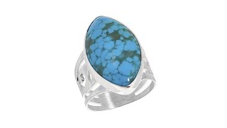 Jay King MarquiseShaped Sonoran Blue Turquoise Sterling ...