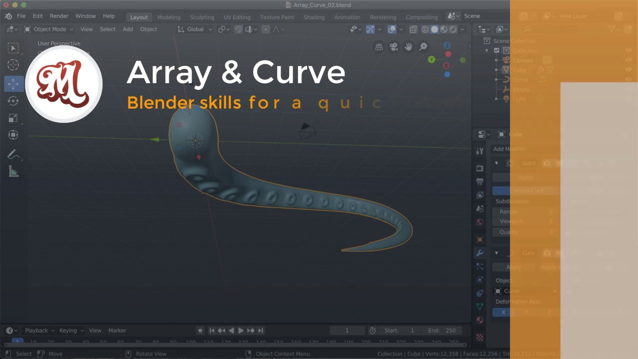 Blender Skills For a Quick Tutorial Array & curve YouTube