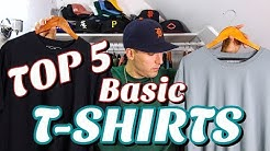 TOP 5 BASIC T-SHIRT'S FOR SUMMER! MY FAVORITE ESSENTIAL TEE'S FOR OUTFITS