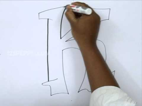 How To Draw Graffiti Letter K Youtube