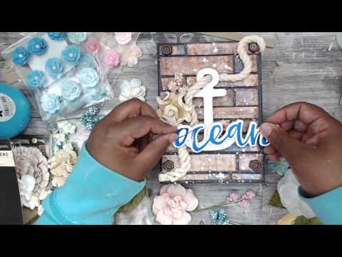 PRIMA ST. TROPEZ MIXED MEDIA MINI ALBUM | TUTORIAL | PART 3/3