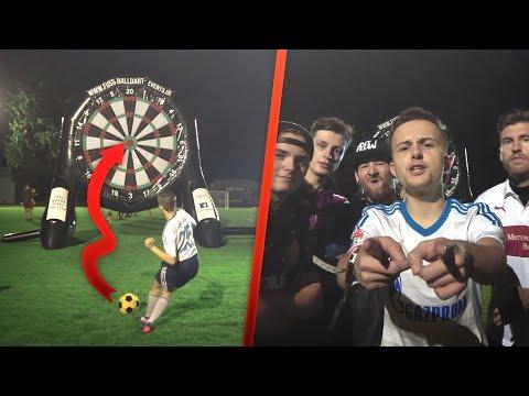HEFTIGE CREW DART Fussball Challenge 😱😱