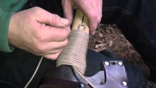 How to put a Para Cord wrap on a Axe
