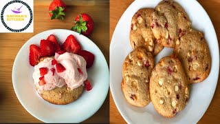 Eggless strawberry shortbread cookies/Easy and simple shortbread cookies.