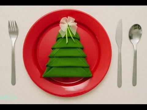 chuladas creativas arbol de navidad en servilleta