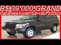 #PASTORE R$ 39.000 #Jeep Grand #Cherokee Limited 1997 Preto #4x4 AT4 aro 16 5.2 #V8 220 cv 41,5 kgfm