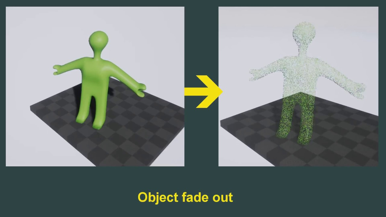 UE4 - Object fade out