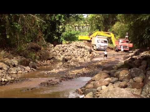 quarrying operation on mamala river at barangay tumbaga I sariaya, quezon, going to barangay canda