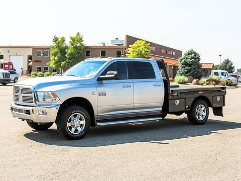 2010 Dodge Ram 2500 Crew Cab 4 Dr Flatbed Truck Transwest Truck