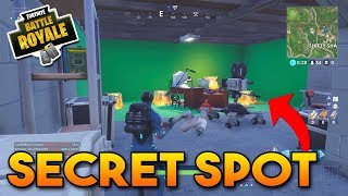 NEW SECRET SPOT BY SHIFTY SHAFTS!! (Movie Trailer Room) - Fortnite Battle Royale Season 4 New Spot