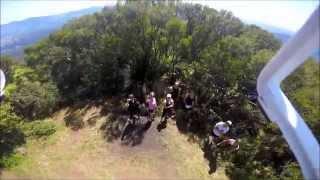 Drone flies over Mount Warning