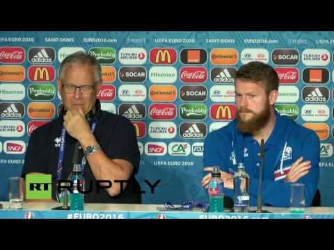 LIVE:  Iceland team holds press conference ahead of Euro 2016 quarter finals game