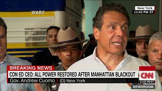 New York's power is restored after Manhattan spent hours in the dark