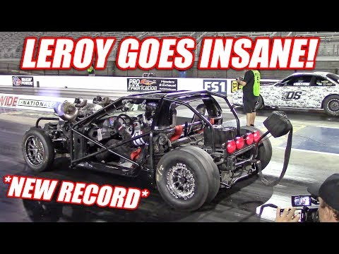 Leroy GOES OFF! Our First 170+mph Pass and His NEW Record Time!!