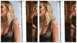 Love Island's Laura Anderson poses in lace bodysuit