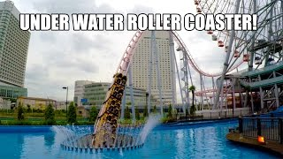 Underwater Roller Coaster POV 60 FPS - Cosmoworld Yokohama Japan