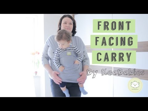 Forward Facing Front Facing Baby Wrap And Sling Tutorial Youtube