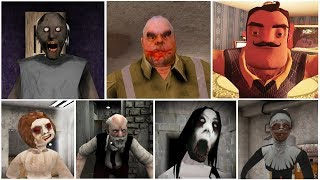 Escape Endings | Granny 2*Hello Neighbor*Mr.Meat*Evil Nun*Dread Teacher*Erich Sann*Slendrina
