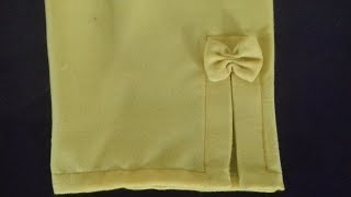 Bow Pant / Trouser Design cutting and Sewing (2)