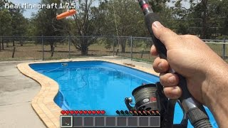 Real Life Minecraft - HOW TO MAKE A FISHING ROD