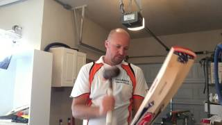 How to knock in your cricket bat!