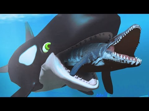 KILLER WHALE SWALLOWS MOSASAURUS! - Feed and Grow Fish - Part 77 | Pungence