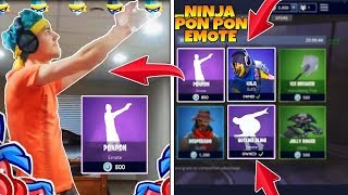 OGNI vittoria REALE ballo PON PON of the SENSEI Ninja FORTNITE ITA