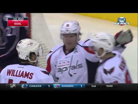 Capitals @ Blue Jackets Highlights 01/19/16