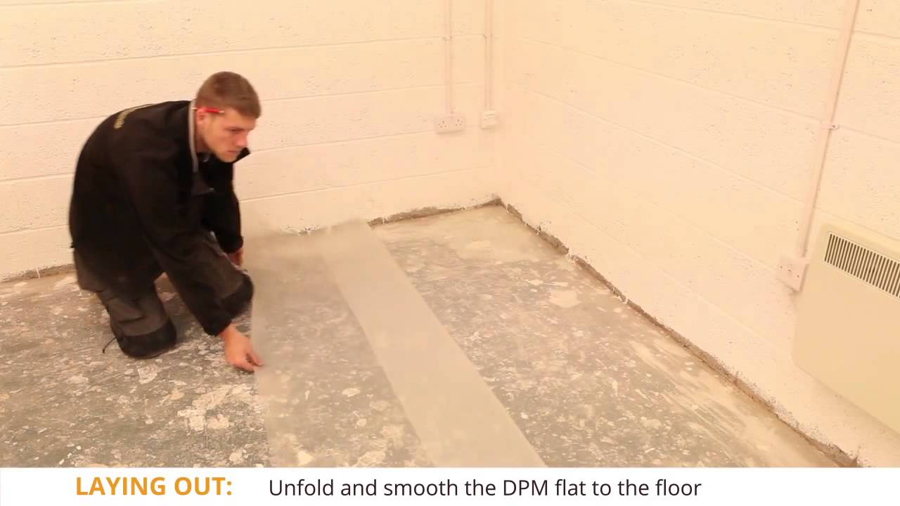 How To Lay Sheet Based Damp Proof Membrane