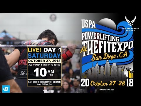 USPA Powerlifting at The San Diego Fit Expo | Day 1