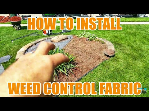 How to Install Weed Barrier Fabric - Landscaping & Lawn Care