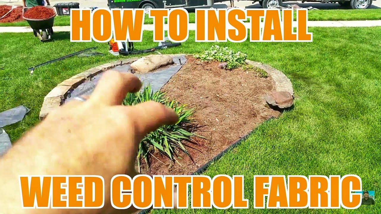 #lawncare #Windowcleaning #snowplowing - How To Install Weed Barrier Fabric - Landscaping & Lawn Care - YouTube