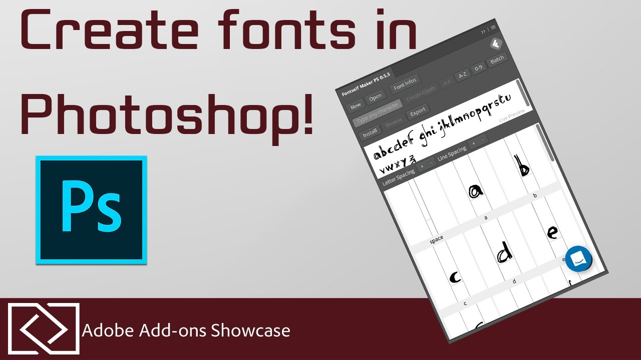 Fontself - Make fonts in Photoshop! - Adobe Add-Ons Showcase