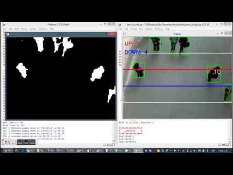 Opencv Python - People Counter - YouTube
