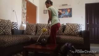 Weekly Cleanning Routine with Vacuum Cleaner Sofa Carpet Curtain and Chair Cleaning