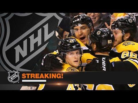 Bruins put together 18-game point streak