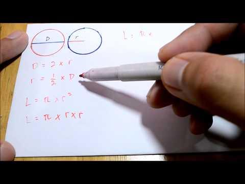 Mencari Luas Lingkaran Dengan Diameter