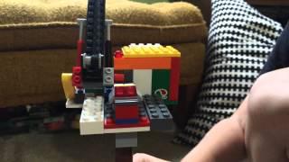Elliot's Lego cargo ship loading crane review, part one