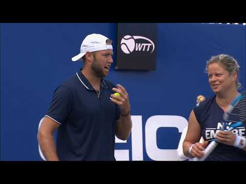 New York Empire vs. San Diego Aviators 2020 with Kim Clijsters and Jack Sock | World TeamTennis