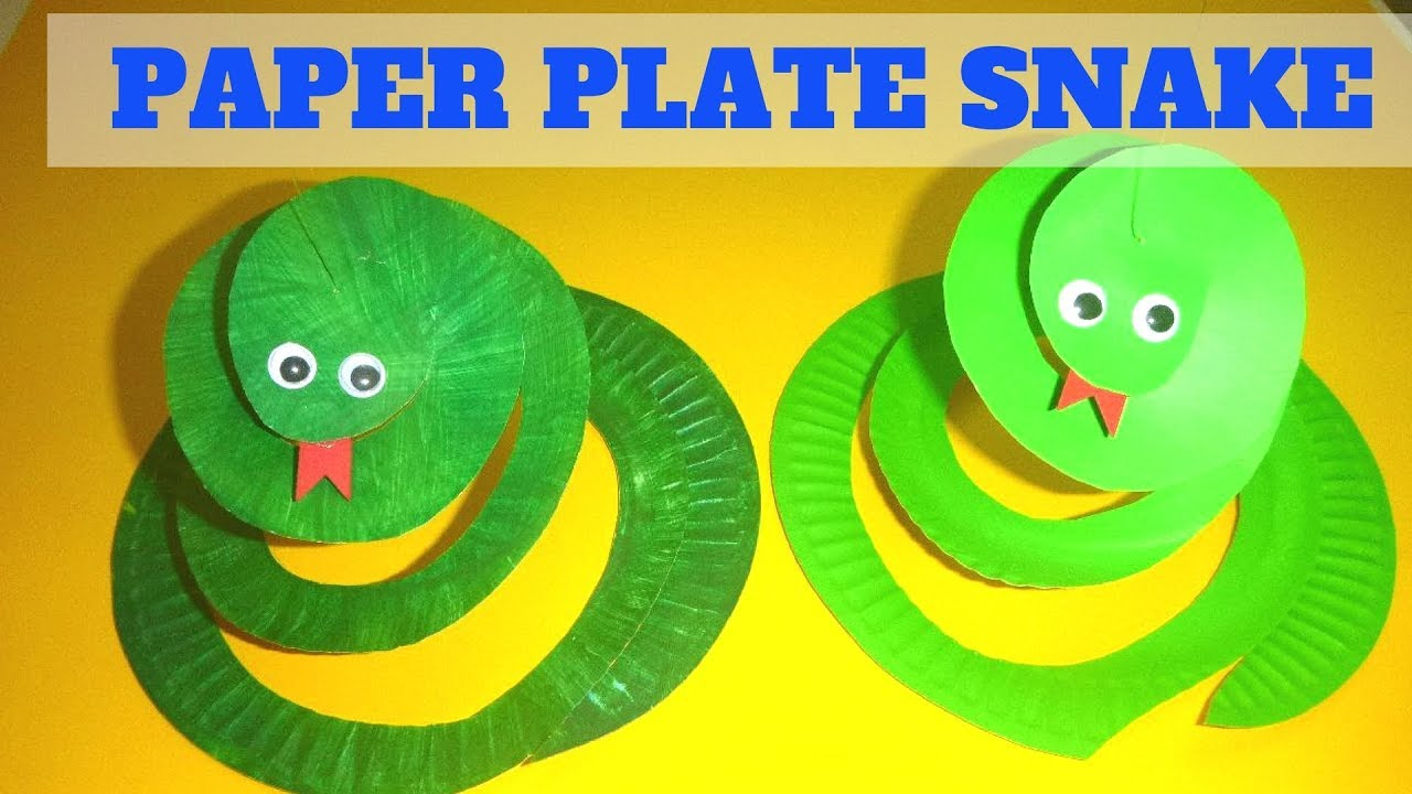 Paper Plate Crafts for Kids | How to Make a Paper Plate Snake  sc 1 st  YouTube & Paper Plate Crafts for Kids | How to Make a Paper Plate Snake - YouTube