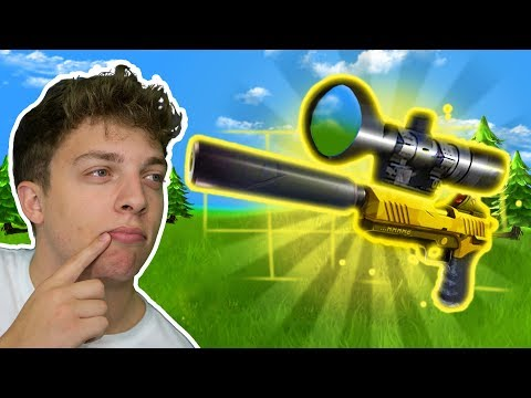 SNIPING WITH LEGENDARY PISTOL! (Fortnite Battle Royale)