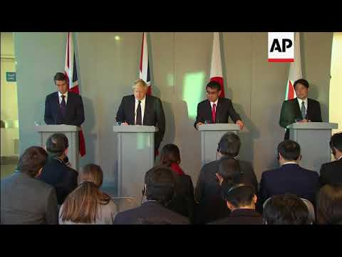 UK and Japanese FMs hold joint briefing in London