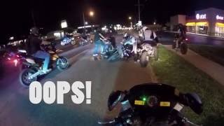 DRUNK DRIVER! When a squid thinks they are a Streetfighter and CRASHES into a girl! CRAZY WRECK!