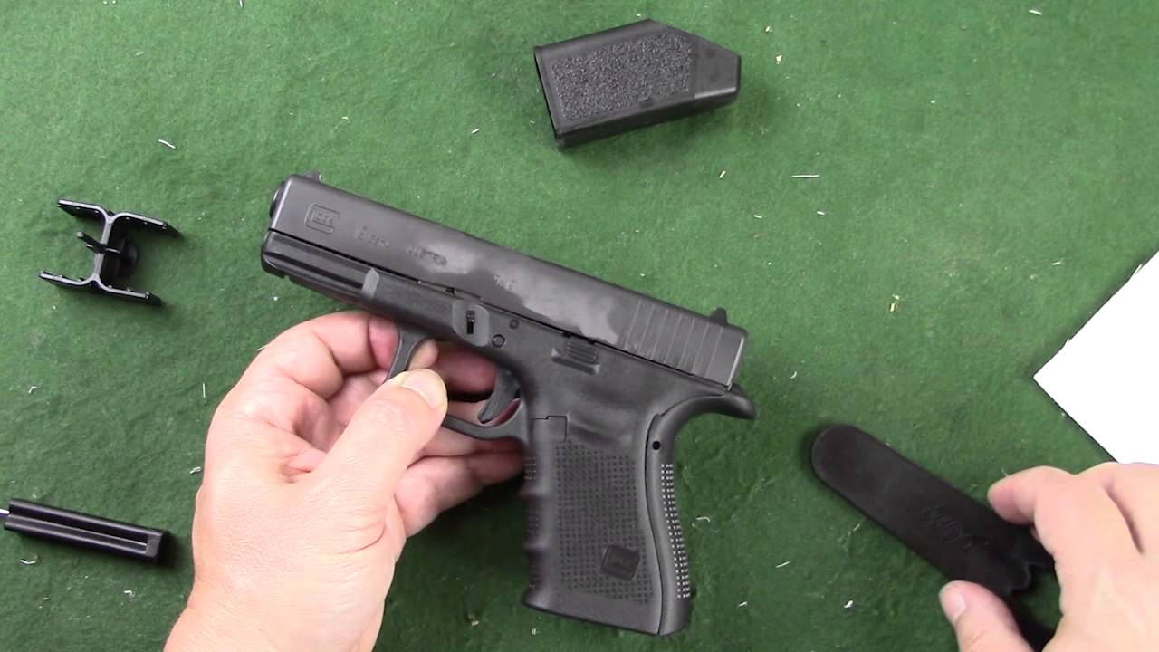 installing a beavertail backstrap on a glock gen4 youtube