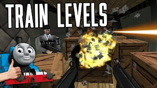 Train Levels in FPS Games