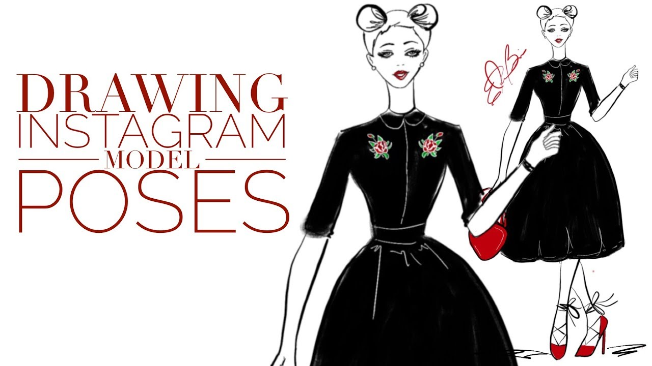 It is a graphic of Astounding Fashion Poses Drawing